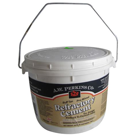 Fireplace Refractory Cement by Tub Of Premixed Buff Finish Refractory Cement