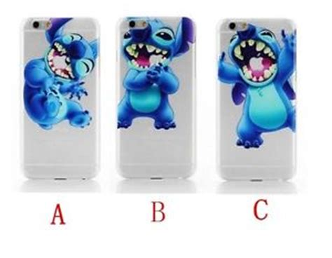 Casing Iphone 55s Stitch Silicon disney character lilo stitch transparent clear cover for iphone 6 plus ebay