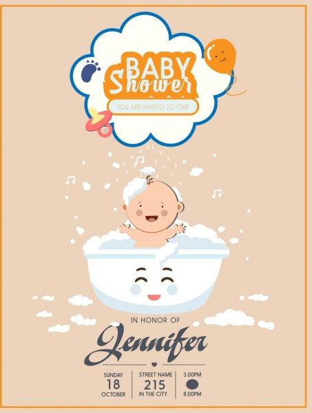 design poster cute baby shower free vector download 972 free vector for