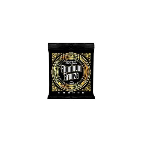 light acoustic guitar strings ernie 2568 aluminum bronze light acoustic 11 52
