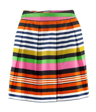 a striped skirt in a in style