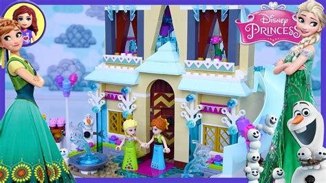 lego frozen fever arendelle celebration castle disney princess build review play toys