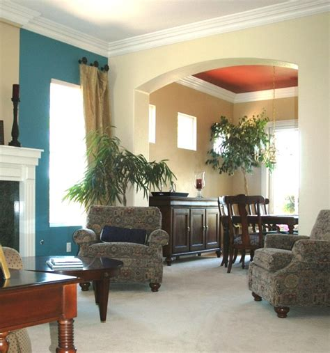 Living Room Dining Room Accent Wall Living Dining Room Accent Wall And Ceiling Traditional