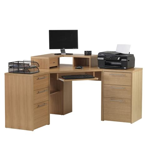 oak veneer computer desk minimalist desk design ideas
