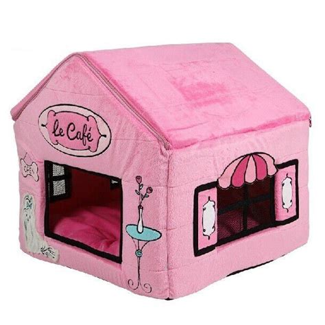 pink dog house bed new princess pink poodle s cafe pet dog cat house beds