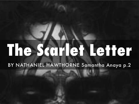 biography of nathaniel hawthorne the scarlet letter the scarlet letter by nathaniel hawthorne intic web