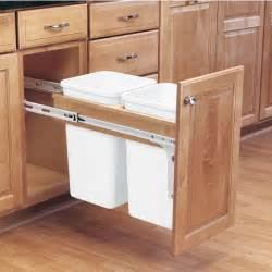 Kitchen Trash Bin Cabinet by Rev A Shelf Pull Out Waste Bins For Framed Cabinet