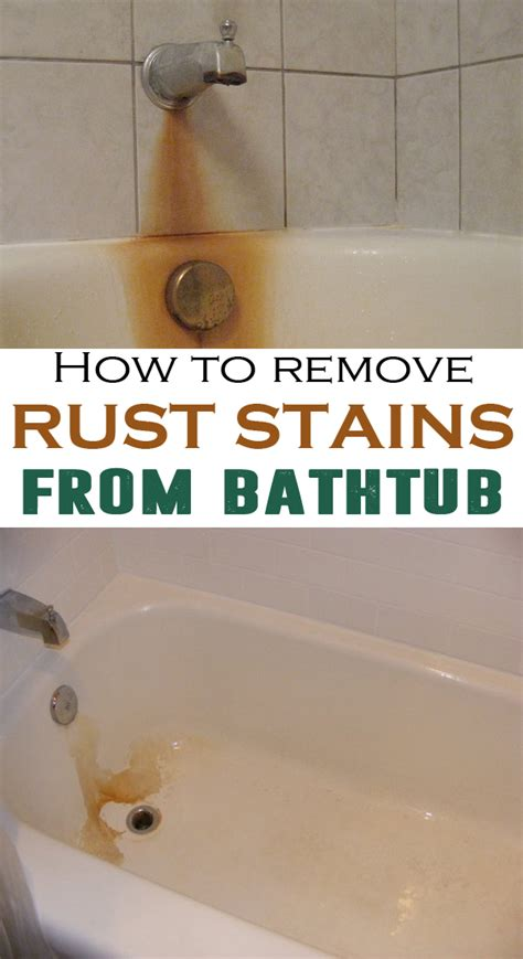 remove rust stains  bathtub house cleaning routine