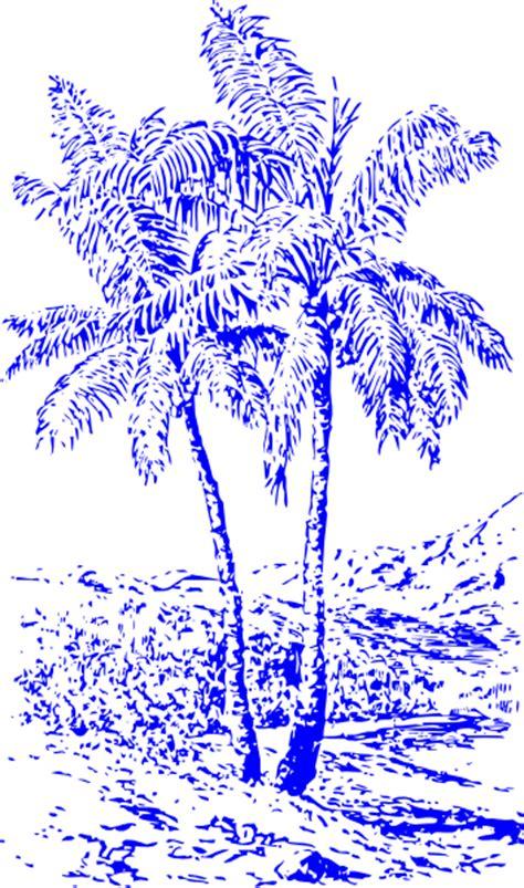 blue palm trees clip art  clkercom vector clip art