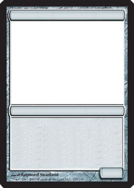 magic trading card template mtg blank artifact card by growlydave on deviantart
