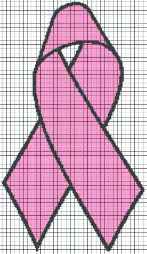 pattern crochet ribbon breast cancer ribbon graphghan pattern by yarnloveaffair
