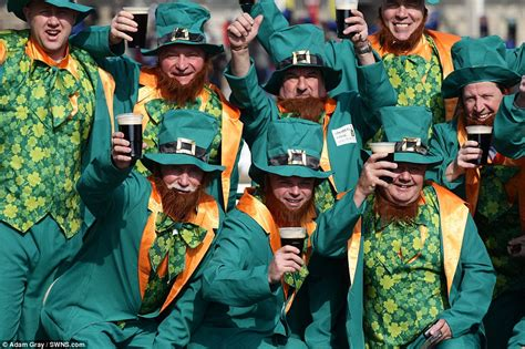 st s day in ireland today cheltenham festival 2016 racegoers dress as leprechauns to celebrate st s day daily
