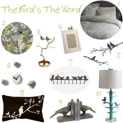 bird themed home decor