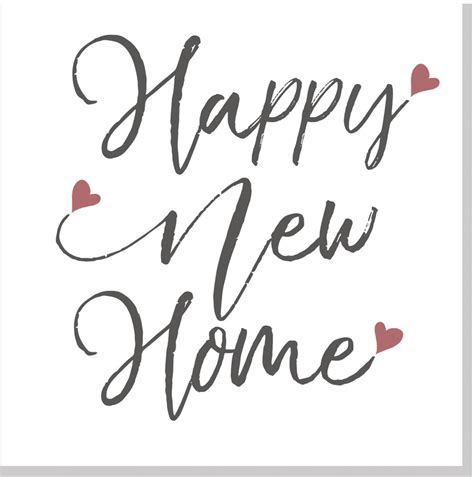 happy  home pink hearts square card jola designs