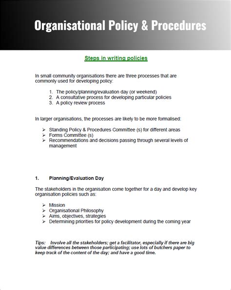 company and regulations template 28 policy and procedure templates free word pdf