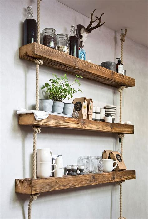 easy  stylish diy wooden wall shelves ideas