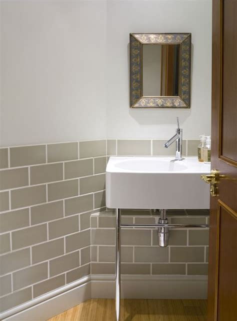 cloakroom bathroom ideas guest cloakroom tiles by fired earth sink and taps by