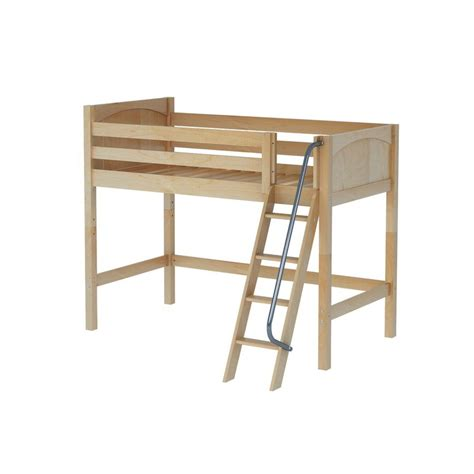 mid loft bed maxtrixkids bongo np mid loft bed med low with