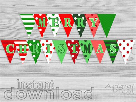 printable noel banner on sale 50 off merry christmas party banner polka dot