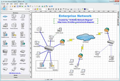 visio infrastructure diagram exle 10 strike network diagram software for creating topology