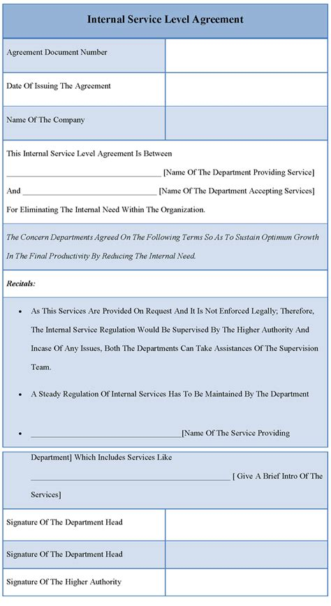 service level agreements templates interesting template sle for service level