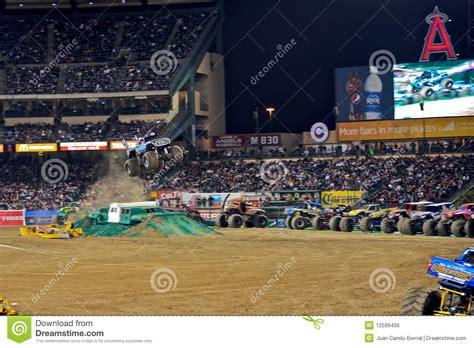truck anaheim stadium truck at stadium editorial photo image