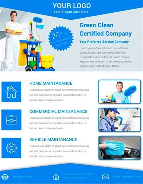 cleaning services advertising templates the free cleaning service flyer psd template for