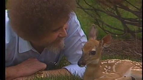 bob ross painting deer bob ross with a deer