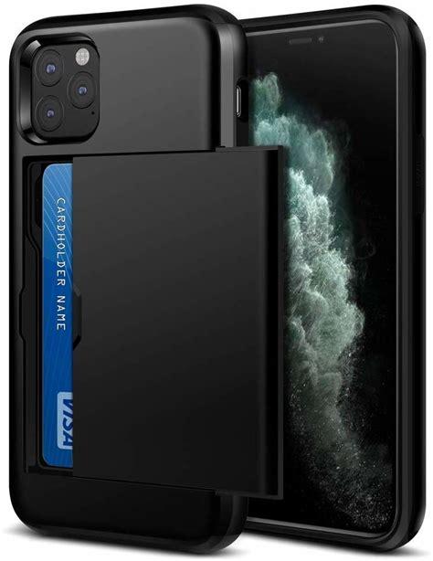 dubbele kaarthouder case met  iphone  pro max zwart
