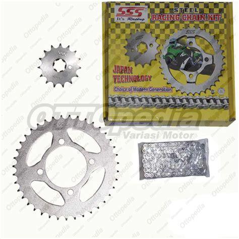 Jual Rantai Motor Sss by Jual Chain Kit Gear Set Rantai Motor Sss Supra X 100 Cc