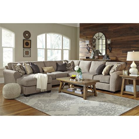 5 piece sectional sofa with chaise benchcraft pantomine 5 piece sectional with left chaise