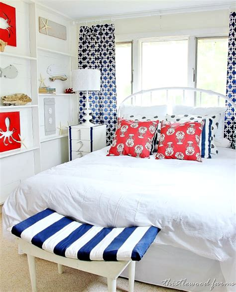 nautical bedrooms nautical bedroom with diy ledge shelf accent wall