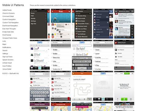 design pattern mobile ui сайты с примерами mobile ui дизайна вдохновение для веб