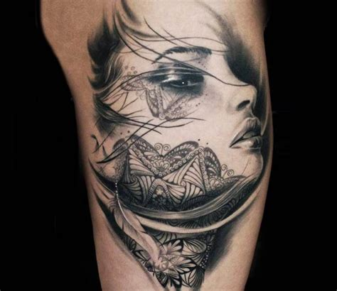 tattoos of women s faces by steffi eff best tattoos