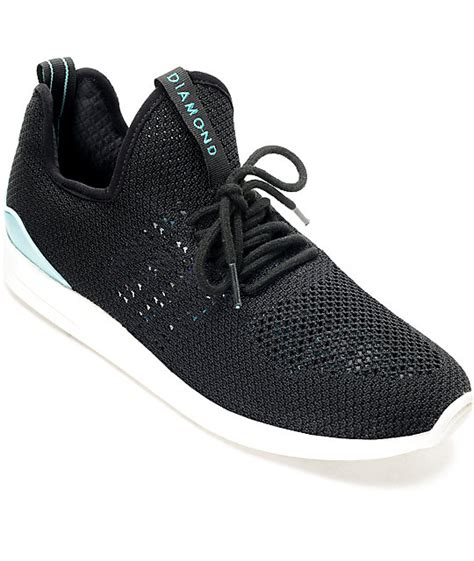 knit shoes supply co all day lite black white knit shoes