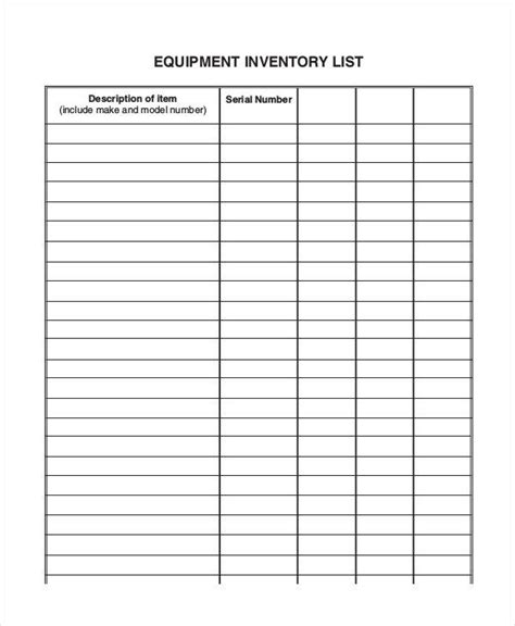 Blank Inventory Sheet Template Aiyin Template Source Inventory Checklist Template Word