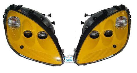 corvette  millenium yellow headlight head light lamp assemblies pair