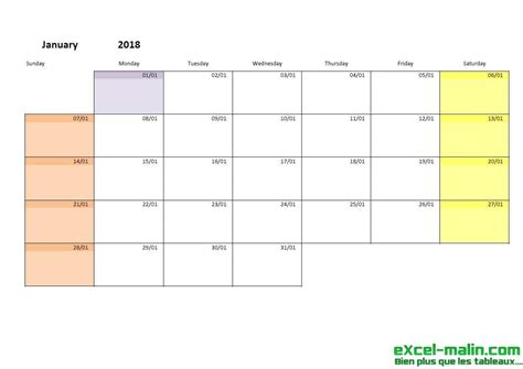 printable monthly calendar template excel excel