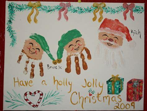 christmas handprint art for children handprint calendar