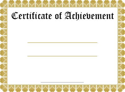 free template for certificates blank certificate templates kiddo shelter blank