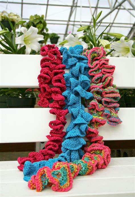 potato chip scarf knitting and crochet tutorial