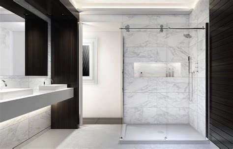 nouveaut 233 2014 en showroom modern bathroom montreal by aqua mobilier de bain