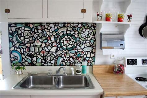 cheap diy kitchen backsplash ideas 15 inexpensive diy kitchen backsplash ideas and tutorials you should see the art in life