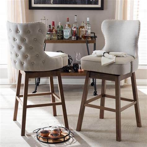bar stools beautiful bar stools for kitchen hd bar baxton studio gradisca 30 51 in beige swivel cushioned