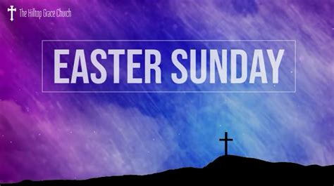 church easter  service zoom background template