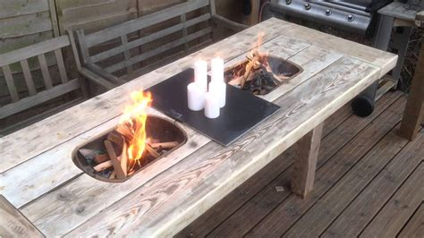 diy firepit table korean bbq table diy pit design ideas