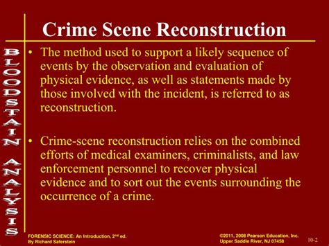 crime pattern analysis report ppt crime scene reconstruction forensic bloodstain