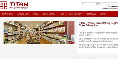 titanbaking com tempat belanja nyaman bagi pembuat kue