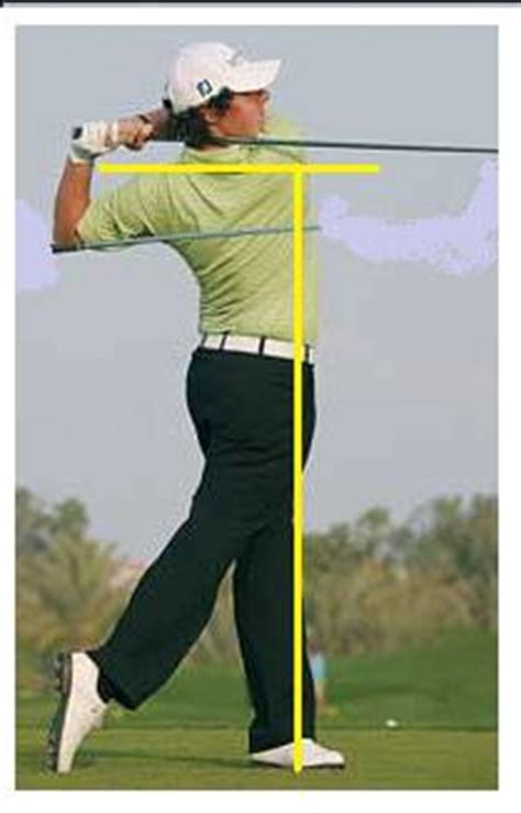 golf swing finish on plane swing