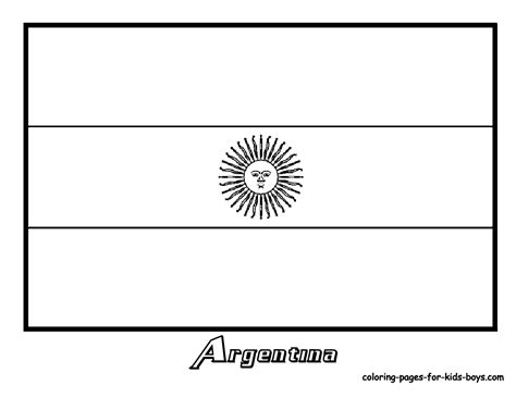 Argentina Flag Outline by Found On Coloring Pages Book For Boys Argentina Argentina Flag